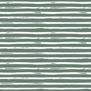 "8"" White and Green Stripes"
