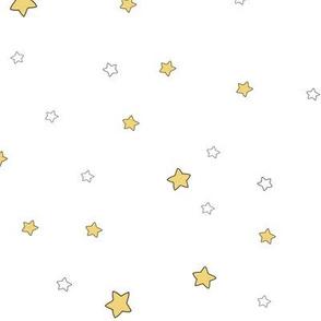 1196 Reindeer Babes Nursery - coordinate2 stars - white