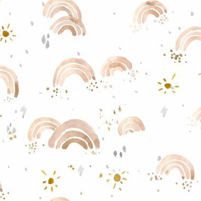 sunshine +  rainbows - rose gold