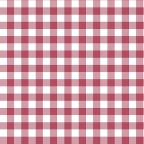 "6"" Cherry Red Gingham"