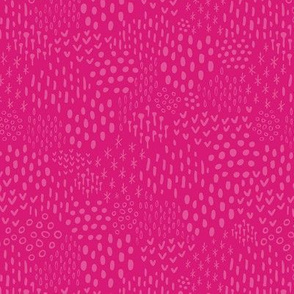 Magenta Pink Scandi Texture Fat Eighth // Bright + Playful Color with Geometric Floral and Botanical Motifs // Quilting Collection // Small Scale // ZirkusDesign