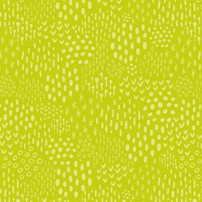 Apple Green Scandi Texture Fat Eighth // Bright + Playful Color with Geometric Floral and Botanical Motifs // Quilting Collection // Small Scale // ZirkusDesign