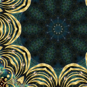 Teal with Gold (2)