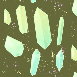Glowing Green Gems