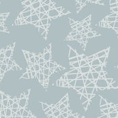 Christmas - geometrical stars grey silver