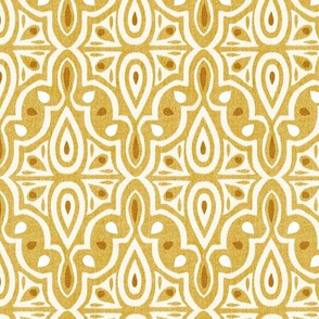 Broderie - Ikat Geometric Goldenrod Yellow Regular Scale