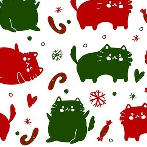 Christmas Cats and Candy Canes
