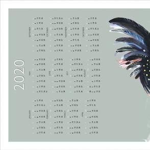 2020 Australian Black Cockatoos calendar tea towel by Mount Vic and Me