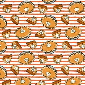 "(1"" scale) Pumpkin pie - toss - fall food - thanksgiving - pie slice - orange stripe - LAD19BS"