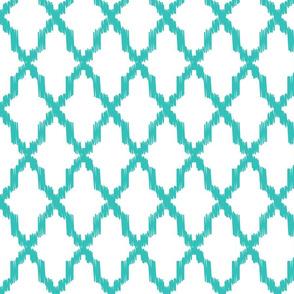 Waterford Quatrefoil Turquoise