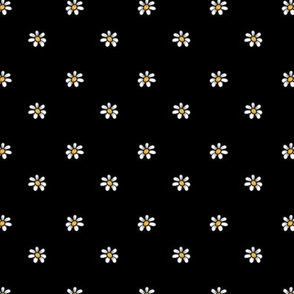 1235 piglet neutrals daisies on black