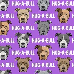 Hug-a-bull - pit bulls - American Pit Bull Terrier dog - purple - LAD19