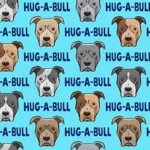 Hug-a-bull - pit bulls - American Pit Bull Terrier dog - blue - LAD19