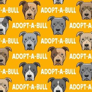 Adopt-a-bull - pit bulls - American Pit Bull Terrier dog - yellow - LAD19