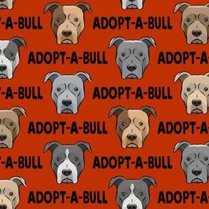 Adopt-a-bull - pit bulls - American Pit Bull Terrier dog - rust - LAD19