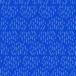 Royal Blue Scandi Half Moon Texture Fat Eighth // Bright + Playful Color with Geometric Nature Motifs // Modern Quilting Collection // Small Scale // ZirkusDesign