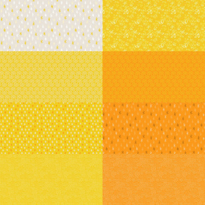 Butter Yellow and Sunny Tangerine Fat Eighth Coordinate Colors // Bright + Playful Quilting Collection with Geometric, Floral, and Botanical Motifs // Small Scale // ZirkusDesign