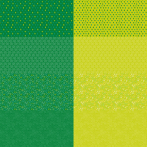 Celery and Grass Green Fat Eighth Coordinate Colors // Bright + Playful Quilting Collection with Geometric, Floral, and Botanical Motifs // Small Scale // ZirkusDesign