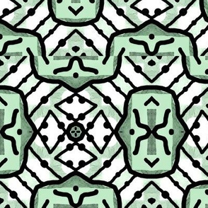 Touch Tomorrow Minty / Mod abstract diamond Distort  green-white