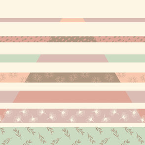 Triangular Split Lines Modern Quilt Baby Girl