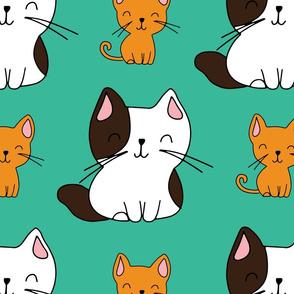 Cute hand drawn kittens