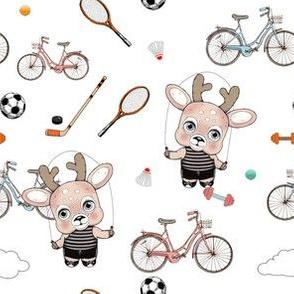 1287 Reindeer Rascals sporty sporty white