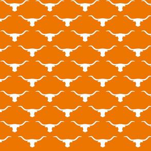 longhorn silhouette white on orange