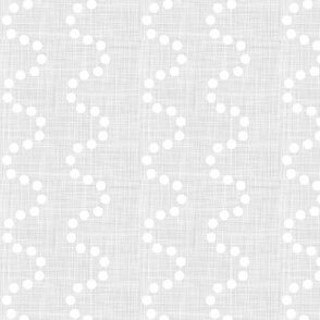 polka dot waves on soft grey texture - small