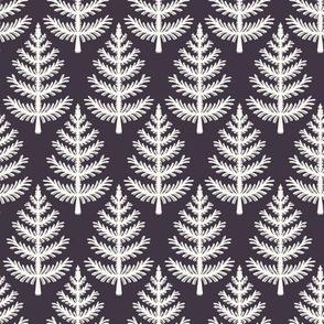 Hand drawn stylized Christmas tree pattern.