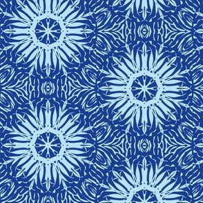 Starbursts of Baby Blue on Navy Blue