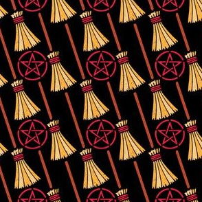 Witch Brooms and Pentacles