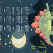 2020 Calendar, Sunday / Cosmic Stegosaur
