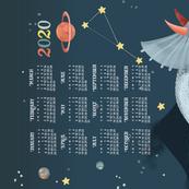 2020 Calendar, Sunday / Cosmic Triceratops