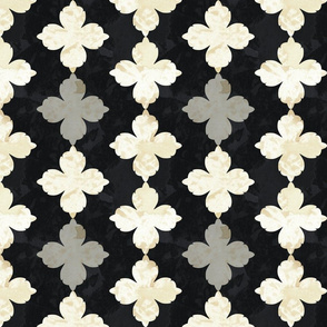 Dark tile flowers