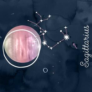 Zodiac Tea Towel 09 Sagittarius