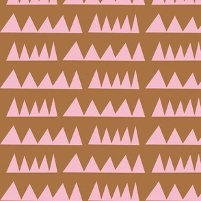 Zig Zag - rose brown