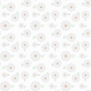Flower, white M027