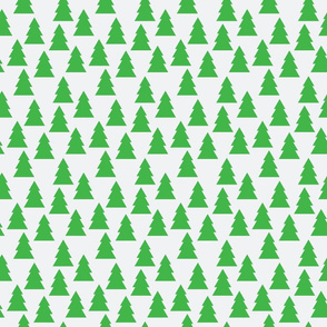 Green Abstract Christmas Trees