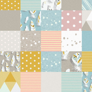 cheater quilt  feathers