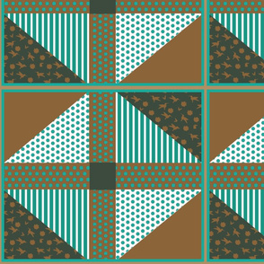 Cheat Quilt Polka Dots and Stripes
