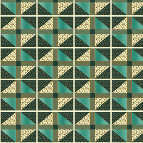 """Cheater""""s Quilt  Earth Tones"""