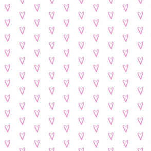 simple pink hearts // heart repeating pattern