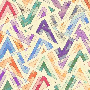 abstract multi zigzag