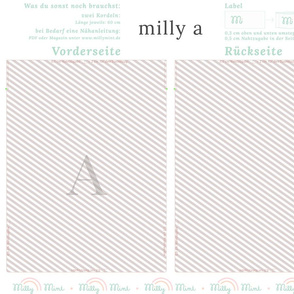 milly mint monogram A bag pattern