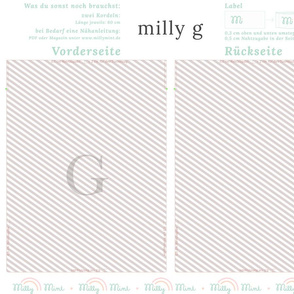 milly mint monogram G bag pattern