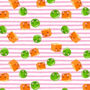 Peas and Carrots - BFF- Pink Stripes - LAD19