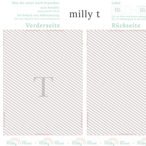 milly mint monogram T bag pattern
