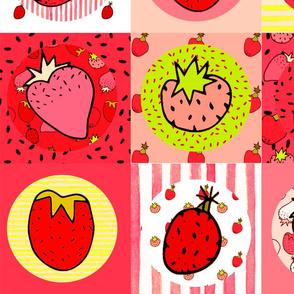 Cheater Quilt - Strawberry Blast