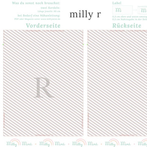 milly mint monogram R bag pattern