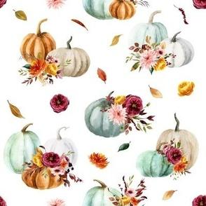 Pumpkin Cider Florals // White